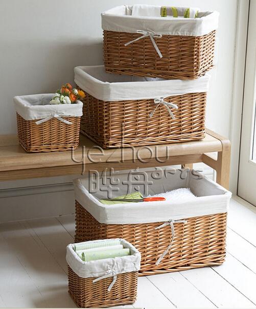 Woven Basket Procedure : White wicker chest trunk hamper storage basket linen bin