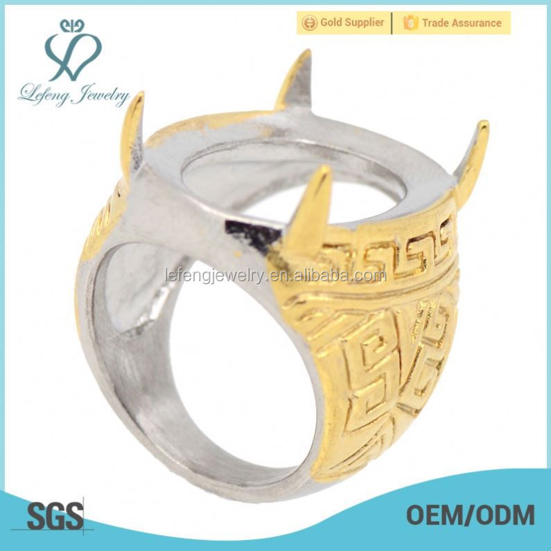 indonesia batu ring stainless steel fashion ring base gold finger rings design for men with price