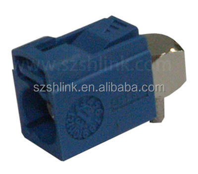 Fakra Right Angle Jack Crimp for RG58 Key Code:C (Blue)