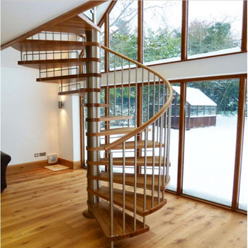 Hot Sell Spiral Staircase With Steel Cable Railing