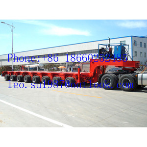 200 Ton Low Bed Semi Trailer/10 Modules Modular Semi Trailer For Large Equipement Transportation