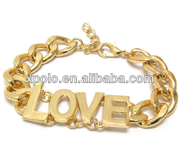 imtation fashion bracelet jewelry with metal love made in China