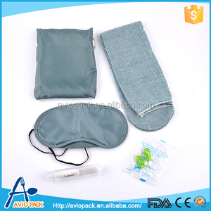 Hot selling cheap airline comfortable mens airline travel kit