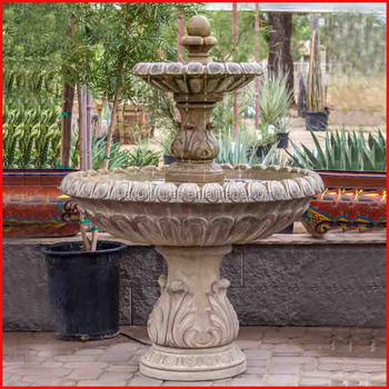 Superieur Battery Operated Outdoor Concrete Stone Round Stone Water Fountain Mold  Indoor Marble Floor Standing Fountain