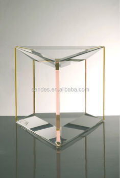 Elegant Cheap Clear Acrylic Trillion Plexiglass Sofa Side Table Part 77