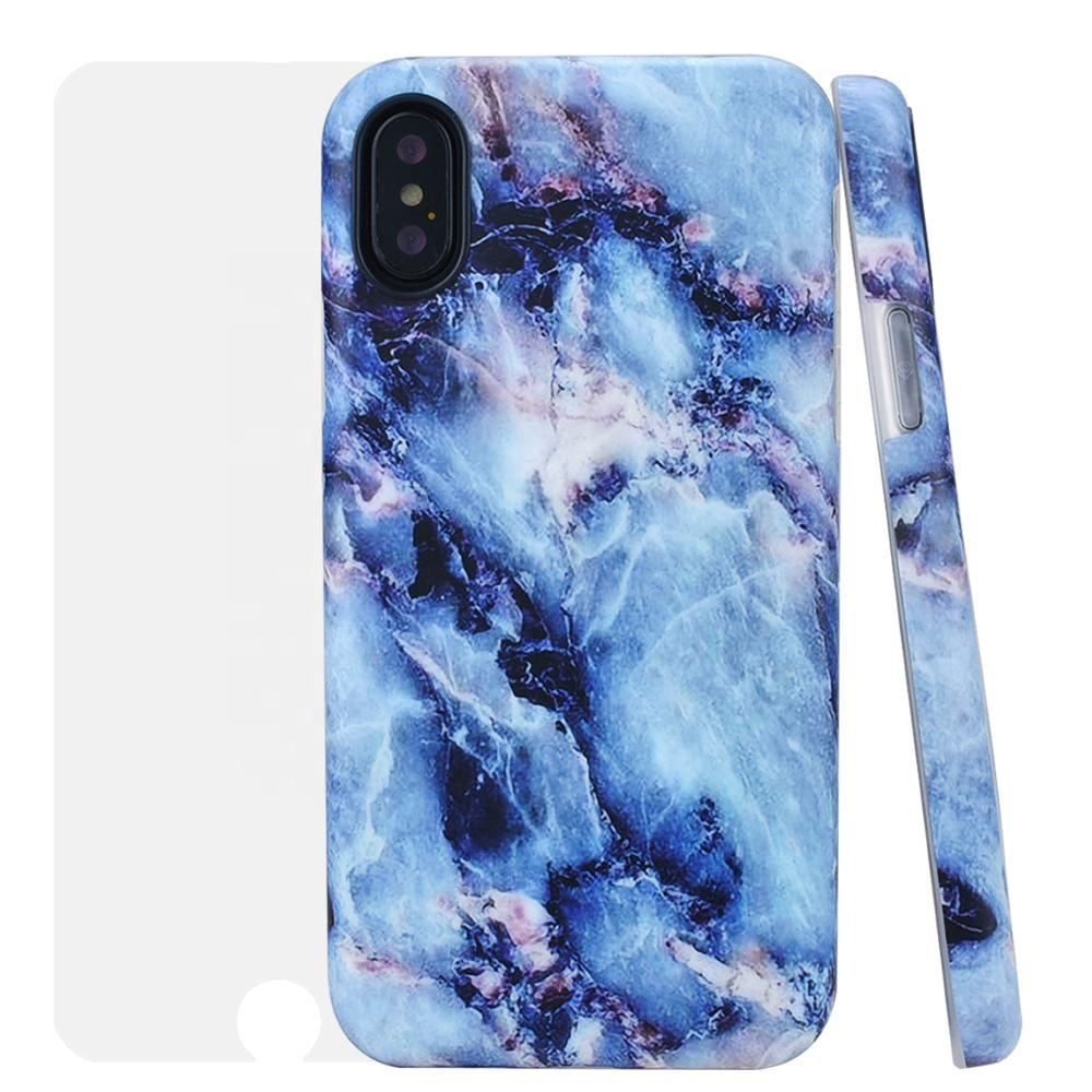 Wholesale Mobile Phone Cases High Quality White Black Marble Leather Phone Cover For Iphone XS XR MAX