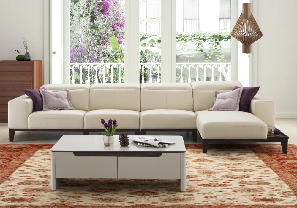 Modern Latest Living Room Wooden Sofa Sets Design Italian Style Set Furniture