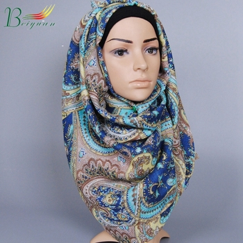 Autumn And Winter New Cashew Flower Women'S Scarf Wholesale Exotic Printed Shawl Muslim Fashion Hijab Head Scarf Islamic
