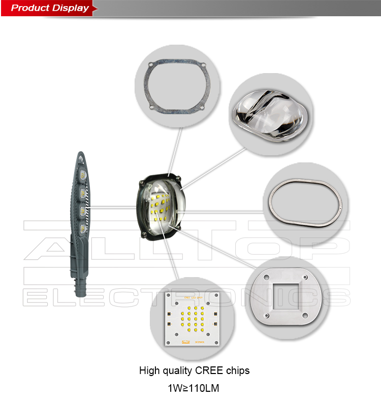 High power outdoor IP65 waterproof 200w solar led street light