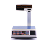 1000 PLUs weighing scale with thermal receipt printer with RJ11 port and cash drawer together special for pos register system