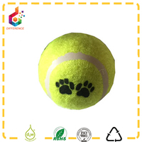 Mixed colors printed pet toy dog tennis shape ball
