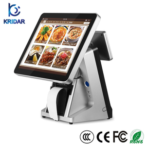 Hot Sale 15inch True Flat All in One Touch Screen POS Cash Register with Built-in Printer