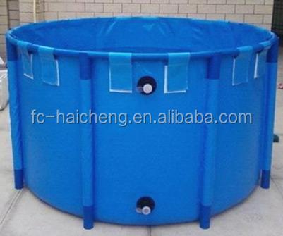 Encerado do pvc de cria o de peixes do tanque de peixes for Portable koi pond