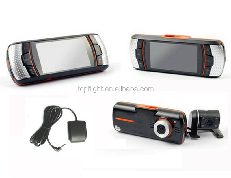 2.7 Inch Screen HD 1080P TIG-T9G Dual Camera GPS Logger 5M CMOS Car Black Box Car DVR