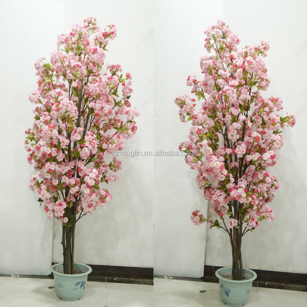 High Quality Cherry Tree Indoor Decorative Silk Artificial Cherry ...