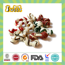 "2.5""-12.5"" 12g-170g Dog Toy Type Wholesale Bulk Sugar Free Pet Products 2 Color Knotted Bone Dog Pet Food"