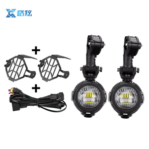 40W Spot Work Driving Light Motorcycle Dirt Bike ATV/Chrome Case LED fog Lamp for R1200GS BMW KTM Honda Harley