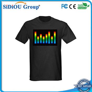El Sound Activate Custom Led Light T Shirt