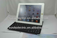 For iPad 2 wireless Bluetooth Keyboard case with aluminum alloy materials