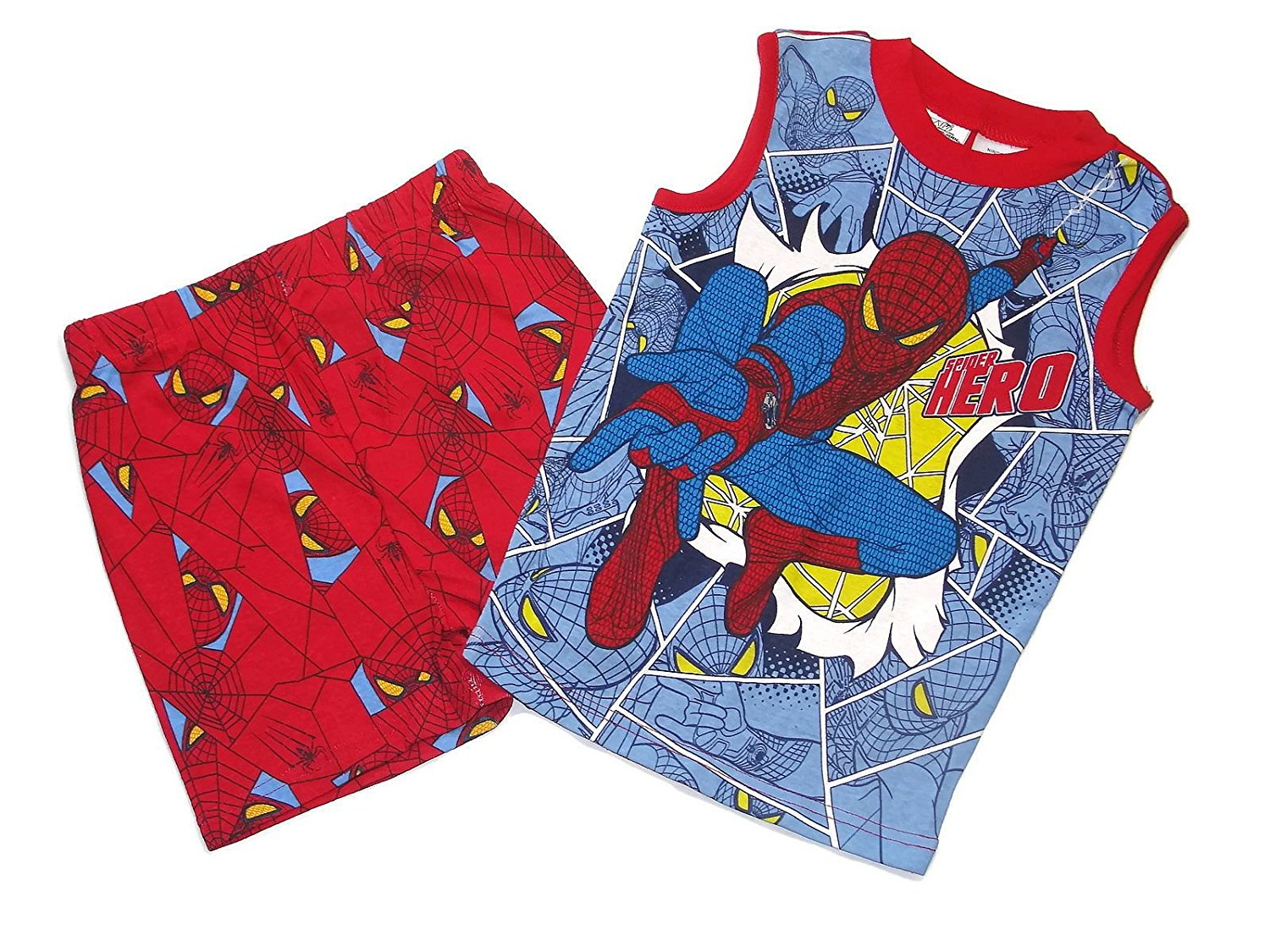 get quotations spider man boys size 8 spider hero comic pajama boys pajama top shorts set