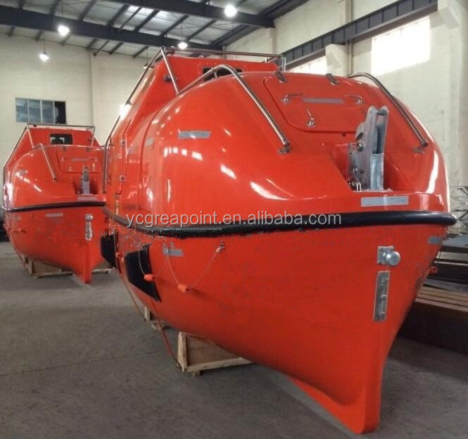 Capacity 36 GRP Totally Enclosed Fiberglass Rescue Boat