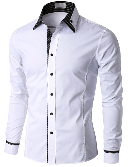 Stand-up Collar Mens Korea Cheap White Dress Shirt Designs - Buy ...