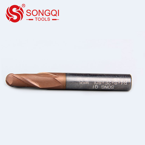 Tungsten carbide 2F/4F square and ball nose endmill for aluminum