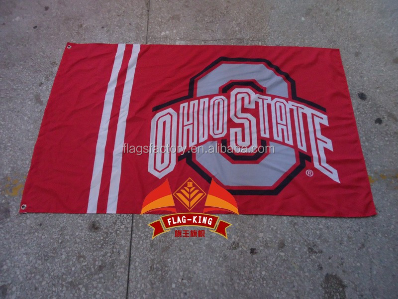 free shipping College banner Ohio State University Educational institution flag,100% polyester flag,3*5 foot, NFL,NHL