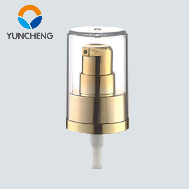 Double deck Fancy UV coated gold pump cream spray 20 410 dispenser pumps