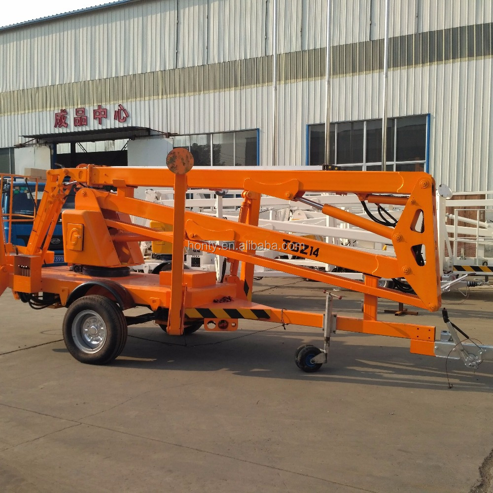 CE approved Cherry picker truck mounted articulated diesel electric boom lift