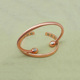 Guangzhou factory women twisted thin magnetic pure red copper bracelet