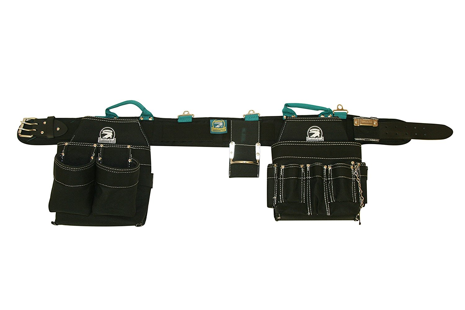 Gatorback Professional Electrician's Tool Belt Combo w/ Padded Comfort Belt Small 26-30 Inch Waist). Ventilated Comfort Belt with Heavy Duty Pouches for Electricians, Carpenters, Framer.