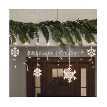 Elegant 2017 Christmas 150ct Warm White Snowflake Icicle String Lights Gallery