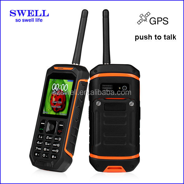 unbreakable waterproof cell phone case Phone X6 IP67 Gps 2.4 inch GSM walkie talkie with sim card Ruggedness of Mobile Devices