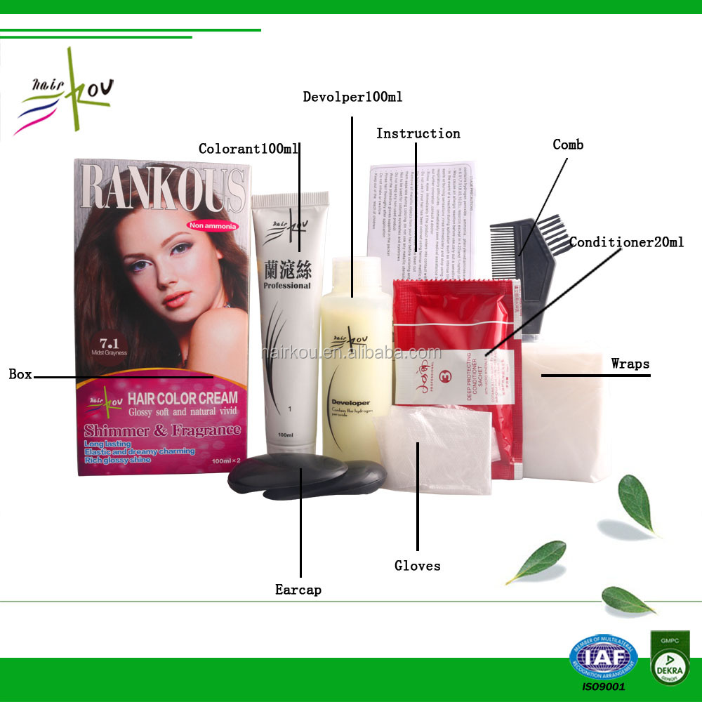 Best Selling Products Home Use Hair Color Cream Nature Box Hair