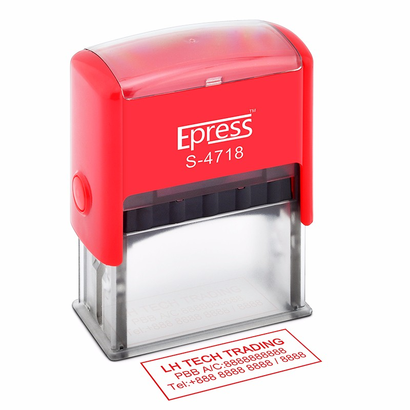 Epress new office use 47x18mm abs materials making self-inking rubber stamp with high quality