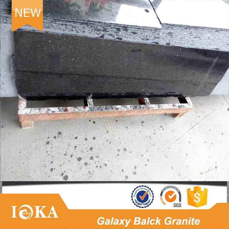 Cheap Black Galaxy Granite High Quanlity Slab