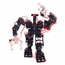 DIY robotic kit, walking robot with claw15 degrees of freedom humanoid biped robots full steering bracket accessories