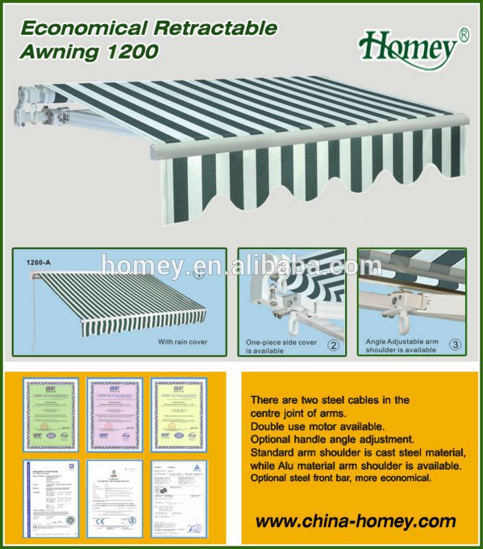 China Supplier Garden Aluminum Terrace Sunshade Awning