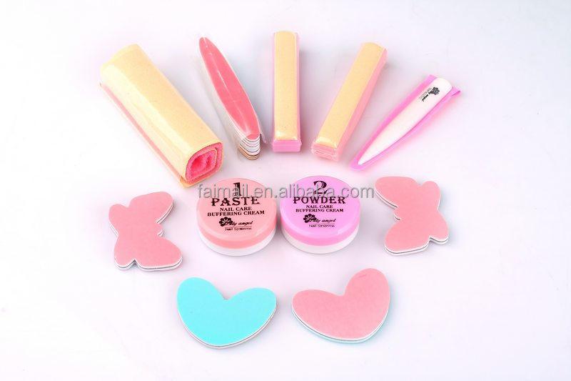 Waxing Cream Manicure Nail Art Leather Buffer Nail art set Japanese ...