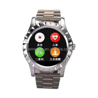 The cheapest mobile phone S2 smartwatches round Heart Rate monitor smart phone android 4.4watch smart watch manfacure usmart