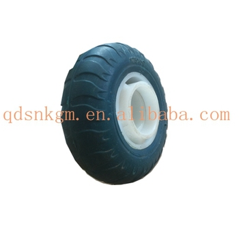 High Quality Small Solid PU Wheel Axle