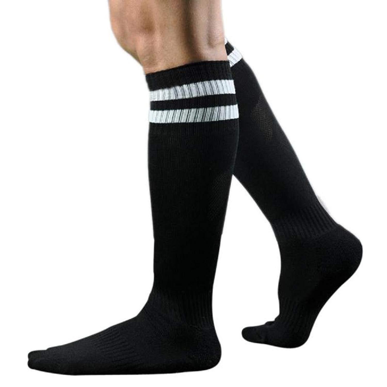 322377b64 Get Quotations · Men s Classic Triple Stripes Knee High Tube Socks