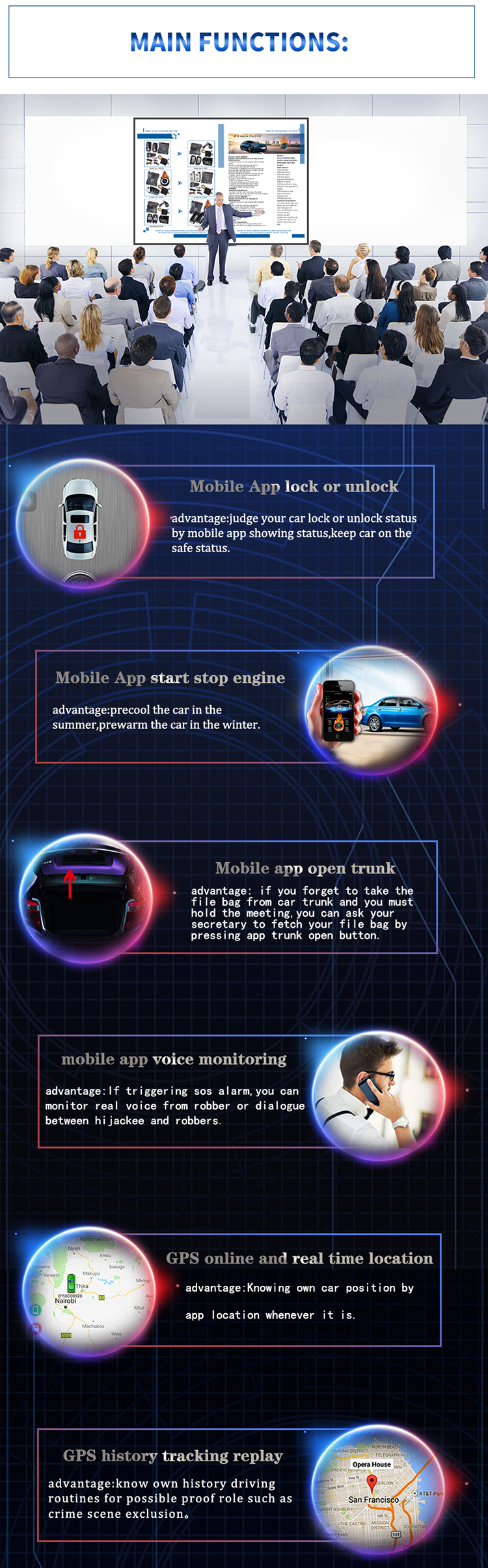 alibaba supplier car alarm online real time gps track keyless entry engine start stop video installation support