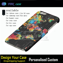 For Iphone 6 Phone 3d Custom Case Print Abstract World Map Black Photo Cover For Apple Mobile Phone For Iphone 6