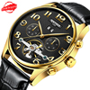 Luxury Brand Kinyued Watches Tourbillon Watch Movement with Moon Phase Mens Automatic Mechanical Watch