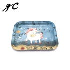 Custom Printing Candy Tin Rolling Tray /rectangular Small Metal Tin Serving Tray