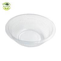Chinese 650ml /24oz clear round transparent microwave disposable plastic soup / lunch /salad storage bowl