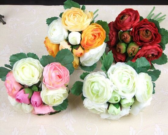 2016 New Artificial Peony flower European Wedding Home Party Decoration Bouquet