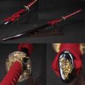 Handmade katana samurai japanese sword 60si2mn Elastic Steel Alloy fittings Furniture decoration Tactical training
